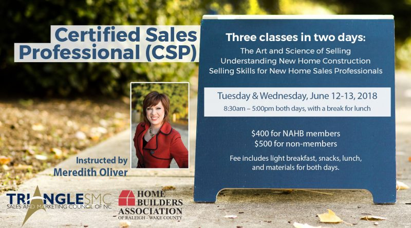Certified Sales Professional Class