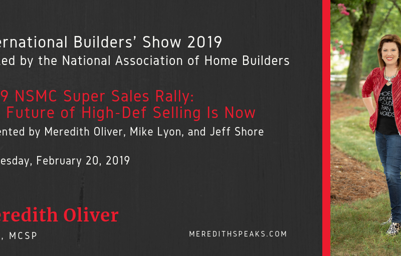 Meredith presenting at International Builders Show 2019